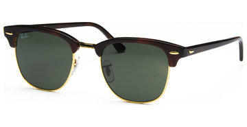 Ray-Ban Clubmaster RB3016 W0366 5121 Mock Tortoise/Arista/Cy Green