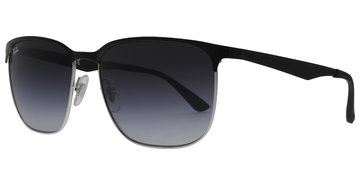 b7a240a9ca Ray-Ban RB3569 90048G 5917 Silver Top Black