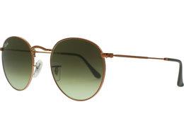 RAY BAN RAY-BAN Sonnenbrille »ROUND METAL RB3447«, silberfarben, 9065I5 - silber/blau